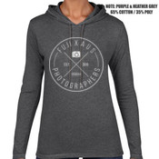 Fuji X Aus (White Logo) - ANVIL Womens Lightweight Hooded Tee